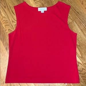Red Sleeveless Blouse | XL
